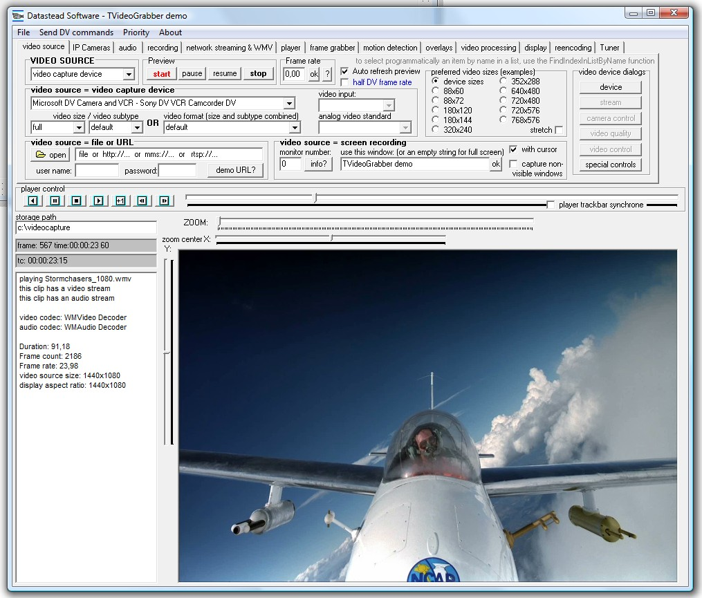 Click to view TVideoGrabber .NET Video SDK 10.8.1.4 screenshot